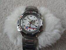 Vintage Wind Up Russian Men's Watch with a Jet on the Dial