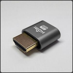 HDMI Display Emulator DDC EDID Headless Ghost Dummy Plug - Grey