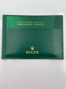 Rolex Green Wallet with Guarantee Manual Worldwide Service Booklet