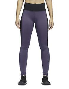 adidas Womens High Rise Training Leggings Black/Purple