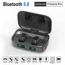 IPX7 Wireless Bluetooth headset TWS 5.0 Bluetooth in ear Headphones Earbud w/Mic