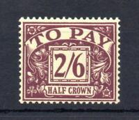 2/6 ST EDWARD'S CROWN POSTAGE DUE SG D54 UNMOUNTED MINT Cat £200