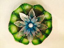 Capiz Floating Water Lily - Pearl - Luzon Azure Blue