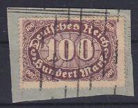 DR Mi Nr. 247 II, PF Plattenfehler, gest. auf Briefstück, Infla Ziffer 1922