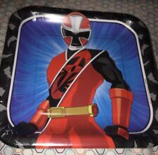 """Power Rangers Ninja Steel Large Lunch Plates Birthday Party Supplies 9"""" New"""