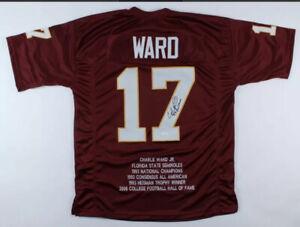"Charlie Ward Signed Stat Jersey JSA COA Florida State St Seminoles ""93 Heisman"""
