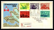 Gp Goldpath: Netherlands Cover 1959 Registered Letter First Day Cover _Cv471_P01