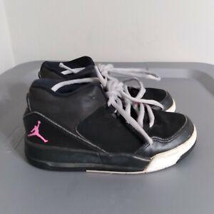 Jordan Flight Origin 2 Kids Little Girls High Size 11C Shoes Black/Pink Sneakers