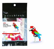 Nanoblock Red & Green Macaw Building Kit 110 Pcs NBC.034