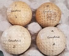 Lot of 4 1950's Acushnet Club Special Vintage Golf Balls 1 2 4 Rare