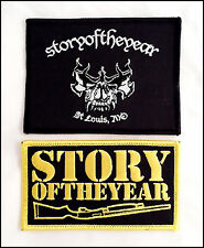 Story Of The Year Embroidered Iron-On Patches Lot Of 2
