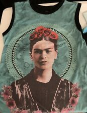 Size XS Frida Kahlo Roses Muscle Tank Top Good Used Condition!
