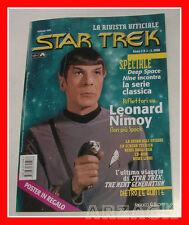 STAR TREK La rivista ufficiale N 1 FANUCCI 1998 poster + scheda