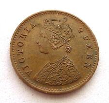 INDIA 1/12 ANNA 1862 (c) CALCUTTA MINT 17.4MM, RARE OVERDATE / REPUNCH. KM#465