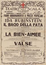 Nijinska Ida Rubinstein Teatro Alla Scala, Italy, 1929, Vintage Ballet Poster
