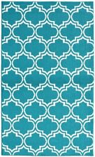Garland Rug Silhouette Area Rug, 5 by 7-Feet, Teal/White, New, Free Shipping