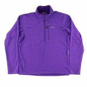 Patagonia Mens Medium Regulator R1 1/4 Zip Pullover Jacket Polartec Purple 81805