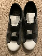 new LEATHER CROWN handmade black white golden in Italy sneakers goose 42 / 9
