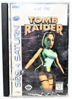 SEGA Saturn Tom Raider Video Game Complete With Manual T-9710H Tested & Working