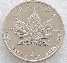 2011 Canada Maple Leaf $5 Five Dollar .9999 Silver 1oz Coin