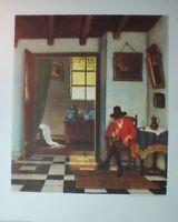 H. Krings Der Raucher Kunstdruck G-5515