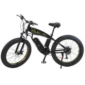 26 Inch Electric Bicycle 1000 W Snow Beach Cruiser Ebike 4.0 Fat Tire 15Ah