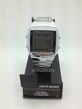 Mens Casio DB360-1A Databank Stainless Steel Digital Sport Alarm Timer Watch