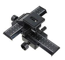 Reino Unido Tienda! cameraplus ® 4 modo macro enfoque Riel Deslizante Camión Con 1/4 de pulgadas de hilo