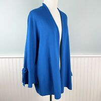 SIZE 1X Alfani Womens Plus Blue Open Front Cardigan Sweater Bell Sleeve NWT New