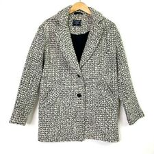 Abercrombie & Fitch Womens Peacoat Gray White Tweed Button Front with Pockets XS
