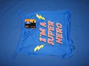 Red Blue Top Paw Dog Halloween I'm A SUPER HERO Cape NWT Costume Superhero