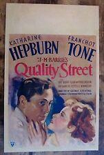QUALITY STREET '37 WINDOW CARD POSTER  KATHARINE HEPBURN & FRANCHOT TONE COM