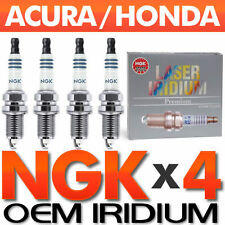 4 PC NGK Laser Iridium Spark Plug Set > OEM for Honda RSX Civic S2000 VTEC K20