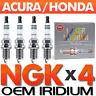4 PC NGK Laser Iridium Spark Plug Set > OEM for Honda RSX Civic S2000 VTEC K20