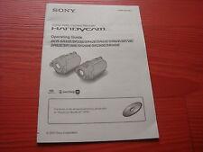 SONY original Operating guide Video Camera DCR-SR32 33 SR-62 72 82 200 290 300