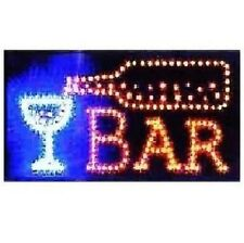 Animated Motion LED Restaurant Cafe Bar Club SIGN +On/Off Switch Open Light Neon