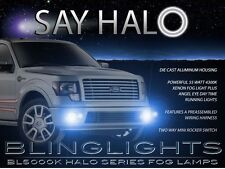 Ford F-150 White Halo Angel Eye Fog Lamp Driving Light Kit with Harness & Switch