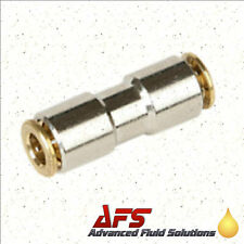 6mm Brass 80 BAR HP Push Fit Straight In Line Connector