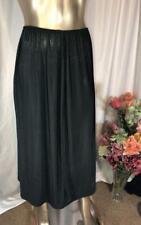 Olga Black Long Half Slip Style 12409L Size L # 052719