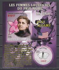 Mali, 2009 issue. J. Addams, Nobel Prize Winner. Orchid & Butterfly. IMPERF