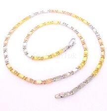 Collares y colgantes de bisutería cadena de oro amarillo sin piedra