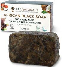 Savon Noir Africain Organique Pranaturals 200g,Cosmétique VégétalieTypes De peau