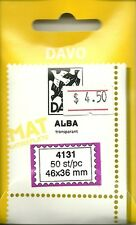 DAVO Alba Clear Mounts Lot of 3 Packs -50 pcs. ea - 41x31mm-new and fresh #