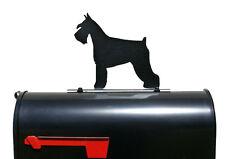 Schnauzer Dog Silhouette Mailbox Topper / Sign - Powder Coated Steel