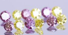 PINK PURPLE NATURAL DIAMOND & YELLOW DIAMOND TOTAL 12 PEICES 3.60 CARATS