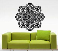 Mandala Wall Decal Indian Lotus Flower Vinyl Sticker Art Yoga Decor Mural (38u)