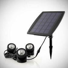 Solar Powered Spotlight, Triple White Light Pack, Battery Back-up Yard & Garden