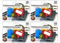 40x Schlüsselschilder zum beschriften mit Schlüsselring | Schlüsselanhänger