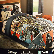"""STAR WARS TWIN BED SIZE COMFORTER REVERSIBLE POLYESTER 61"""" 86"""" DISNEY BRAND NEW"""
