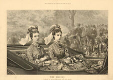 The Sisters. A Sketch in Rotten Row. Hyde Park. Carriages 1873 ILN full page